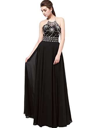 Belle House Prom Dresses Long For Women Halter Top Formal Dresses