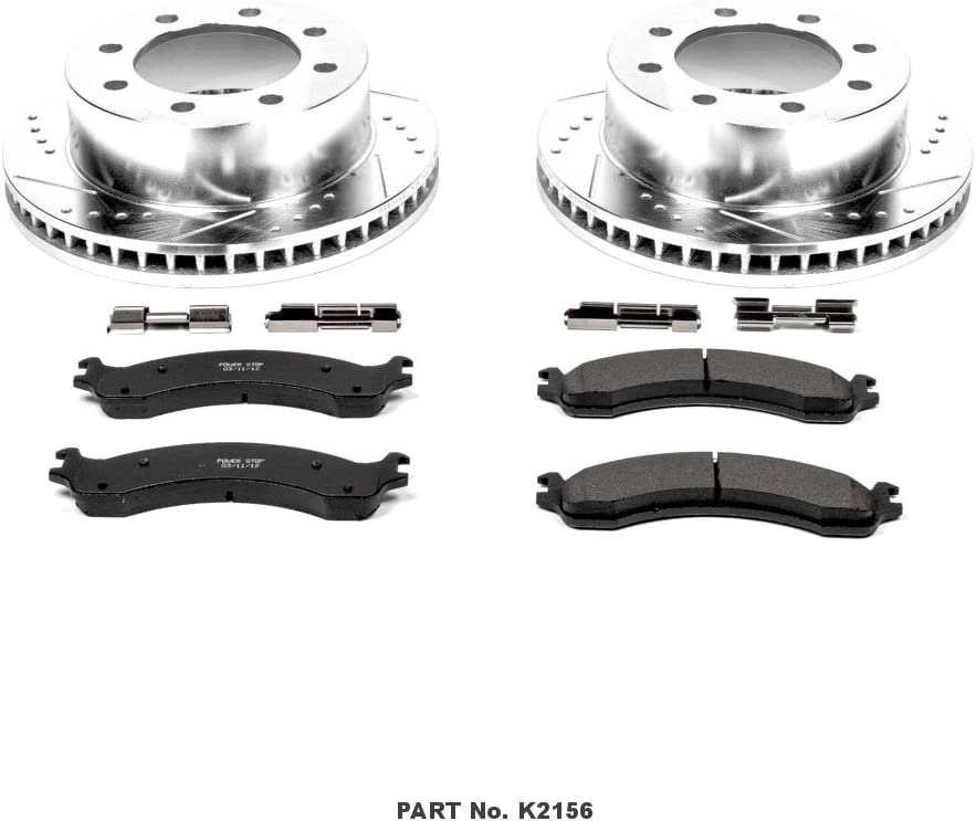 Power Stop K2156 Front Z23 Evolution Brake Kit with Drilled//Slotted Rotors and Ceramic Brake Pads