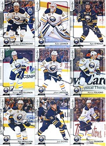 2017-18 O-Pee-Chee Hockey Buffalo Sabres Team Set of 15 Cards: William Carrier(#21), Sam Reinhart(#68), Evander Kane(#82), Brian Gionta(#153), Kyle Okposo(#186), Jake McCabe(#204), Matt Moulson(#239), Jack Eichel(#269), Rasmus Ristolainen(#316), Cody Franson(#322), Johan Larsson(#336), Marcus Foligno(#384), Zemgus Girgensons(#404), Robin Lehner(#418), Ryan O'Reilly(#490) (68 Matt)