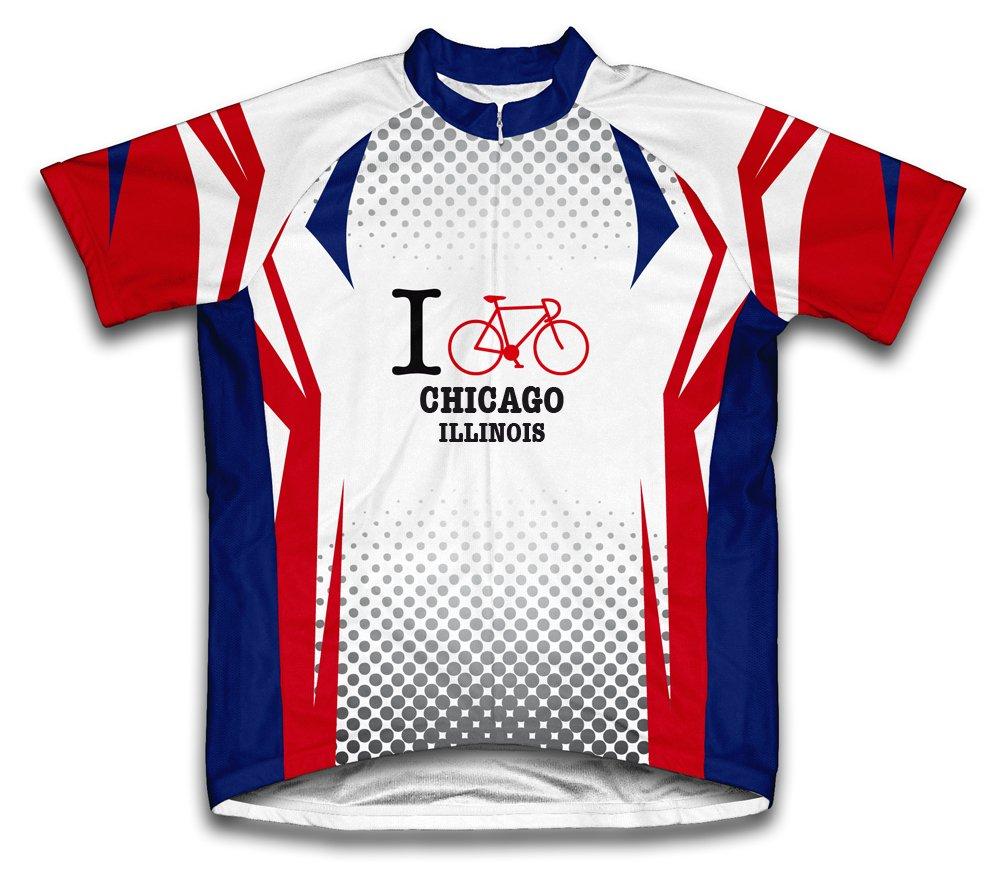 Chicago Illinois IL Cycling Jerseyメンズの B00EB0DJQ2 5L