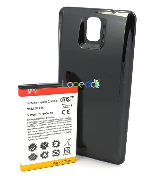 Lopedo EB-K800BE - Carcasa con batería para Galaxy Note 3 ...