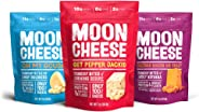 Moon Cheese - 100% Natural Cheese Snack - Variety (Bacon Cheddar, Gouda, Pepper Jack) 2 oz - 3 Pack