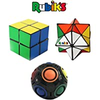 Rubik's Challenge Gift Set; Bundle of (2) Magic Stars and (1) Rainbow Ball; Transformation & Color Matching Fidget Toys, Brain Teaser, Addictive & Educational Puzzles, Fun Adults and 4+ Kids