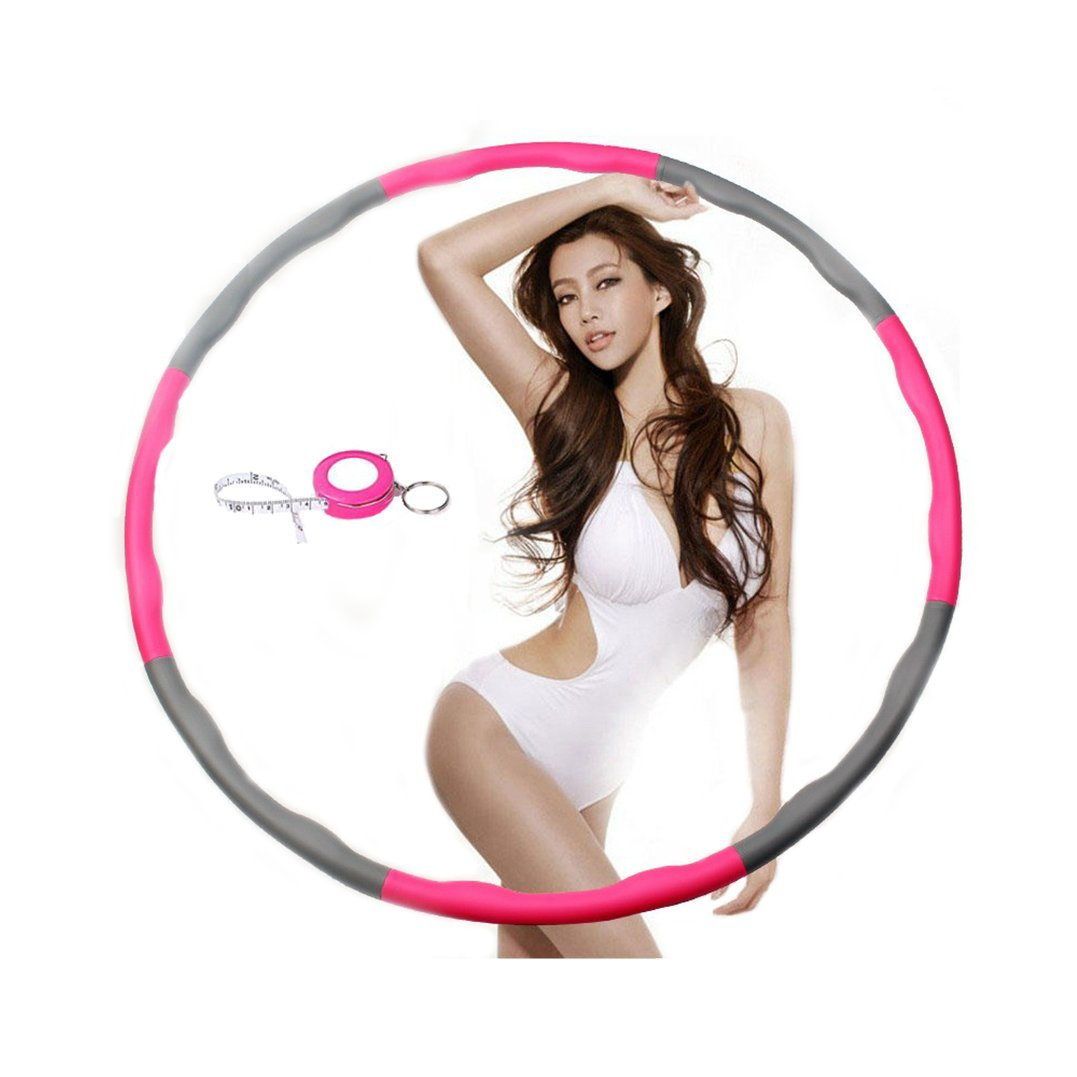 Weighted Hula Hoop For Exercise, Fitness ,Workout, Dance and Fat Burning-2lbs-Better Way to Loss Weight (Fuchsia)