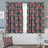 Best Croscill Blinds - Chaneyhouse Geometric Circle Waterproof Window Curtain Interlace Spiral Review