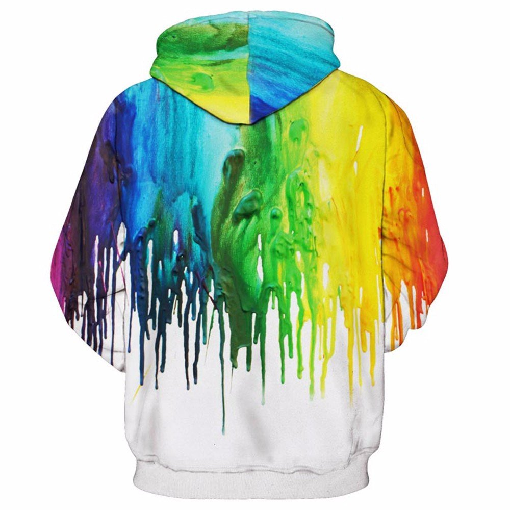 Felpe con cappuccio WYZN Vernice Splash Felpa con Cappuccio 3D Hoodie Uomini Donne Casual Hooded Pullover Tops Fashion Tuta Dropship