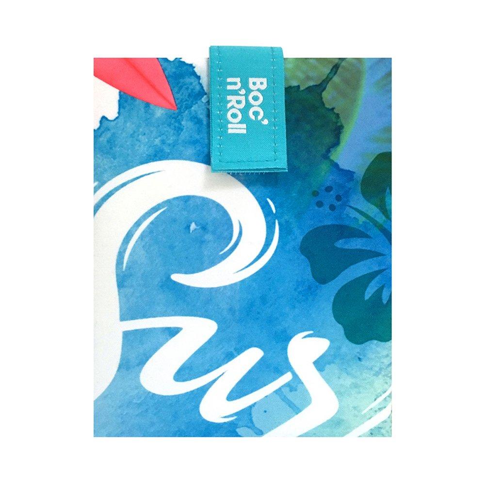 Roll'eat Boc'n'Roll, Young Surf, Porta bocadillos reutilizable , bolsa merienda , funda bocadillo, Sin BPA Marcadiferencia