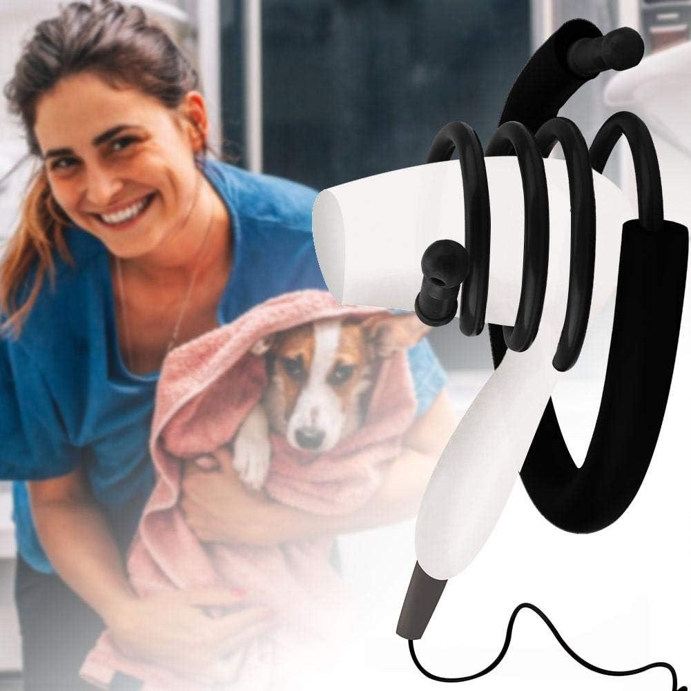 Negro Hffheer Titular de secador de Pelo Manos Libres secador de Pelo Soporte Pet secador de Pelo Bastidor de Aseo de Mascotas peluquer/ía Accesorios para Hombro Izquierdo