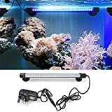 Amzdeal Aquarium Fish Tank Light 30 LED Waterproof with US Plug Blue Light