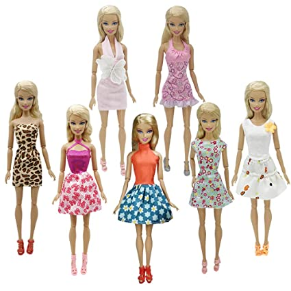d01afa9a698 Amazon.com  Nounita 5 Pcs Handmade Fashion Dresses Clothes Compatible with 11.5  inch Doll  Toys   Games
