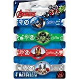 Avengers Silicone Wristband Party Favors, 4ct