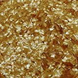 #6: Metallic Gold Edible Shimmer Glitter Sparkle Flakes for Cakes and Cookie's (4 Ounces)