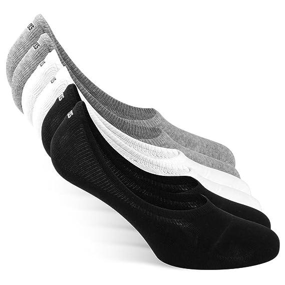 ® Damen Snocks Paar 6x Unsichtbare Herren Extra amp; Sneaker Socken S1d4w