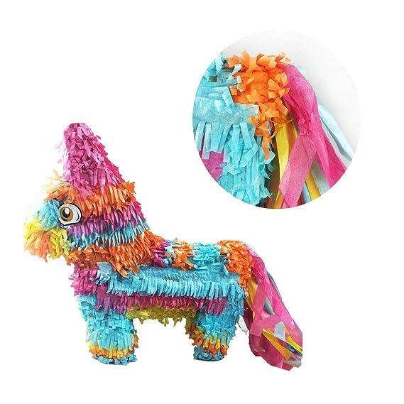 STOBOK Piñata Rainbow Juego de Juguete de Forma de Burro ...