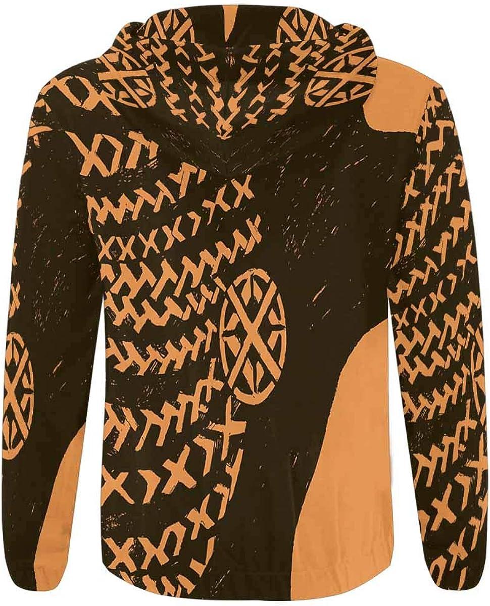 African with Pigtails INTERESTPRINT Mens Lightweight Full Zip Hoodie Beautiful Black Woman