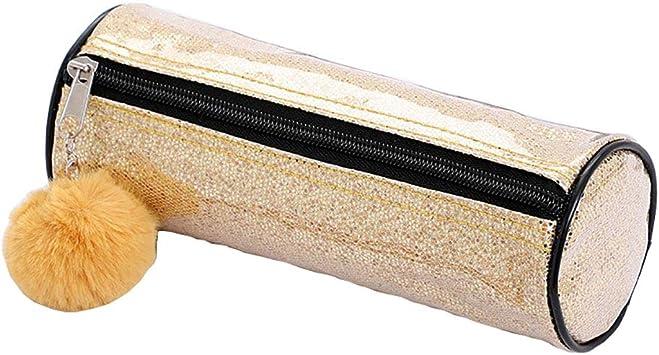 Tukistore Bolsas de Maquillaje Brillantes Láser PU cartuchera Estuche de lápices Tipo de Cilindro Bolsa de cosméticos Monedero De Almacenamiento para Mujeres y niñas: Amazon.es: Electrónica