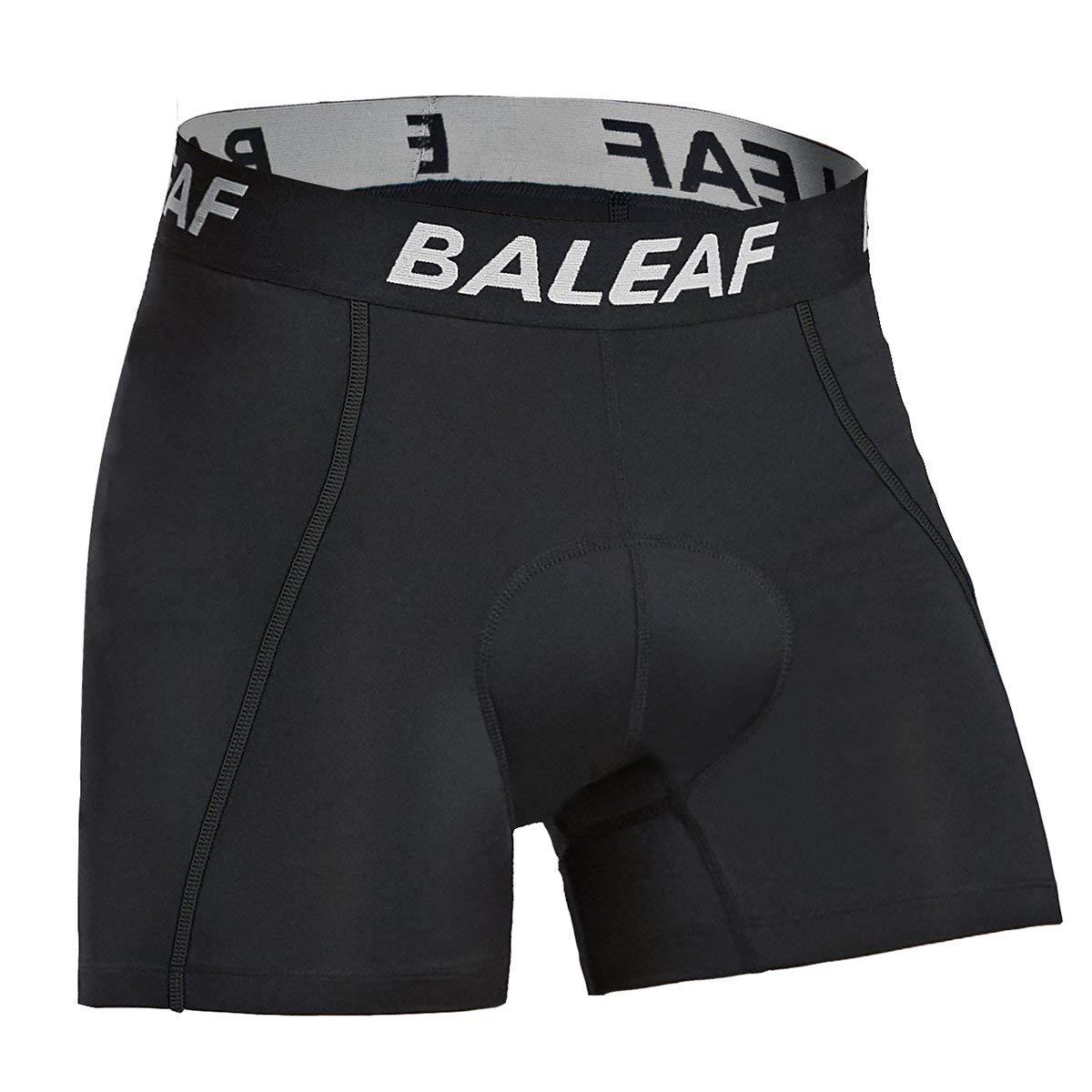 バリーフ(Baleaf)メンズ レーサーパンツ サイクル インナー 3Dゲルパッド 衝撃吸収 痛み軽減 自転車用 多彩 Medium Black-New B07M7T1S2W