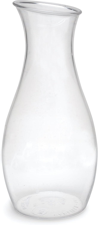 Carlisle 7090307 Cascata Carafe Juice Jar Beverage Decanter Only, Plastic, 1.5 L, Clear