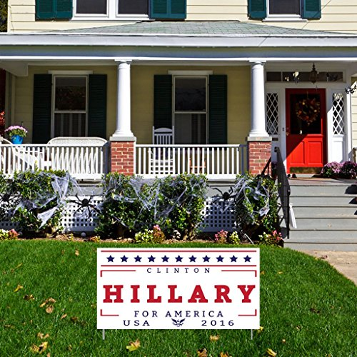 "Hillary For America 12""x24"" Corrugated Plastic Sign, Set of 2"
