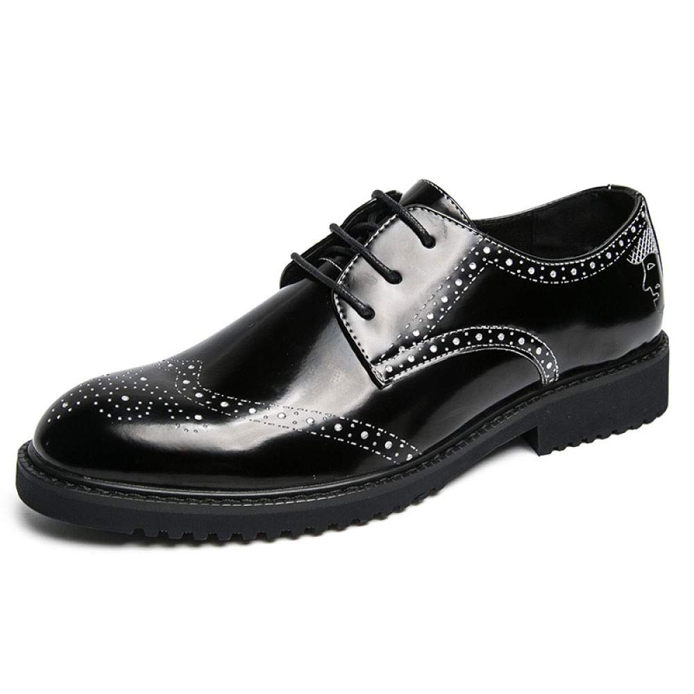 YongBe Herren Lackleder Schuhe Schnürschuhe BroguesBusiness Dress Schuhe Casual Hochzeit Hochzeit Hochzeit Spitzschuh Smart Schuhe cdc881