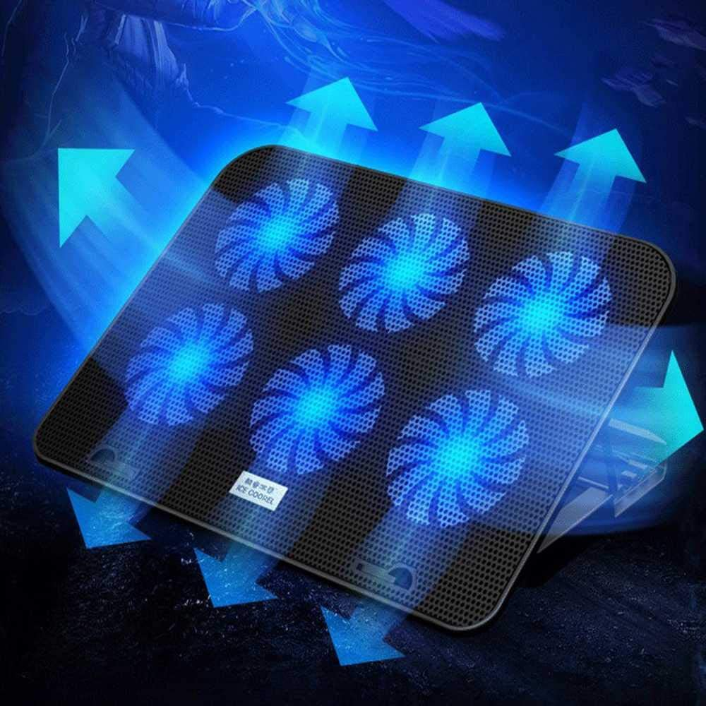 Laptop Cooling Pad Gaming Stand to Reduce Heating Increase Your Pc Performance and Life Expectancy 6 Quiet Fans and No More Overheating