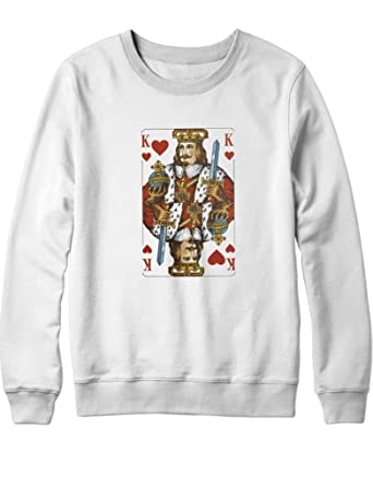 Hypeshirt Sweatshirt Heart King King Of Hearts H140029 White