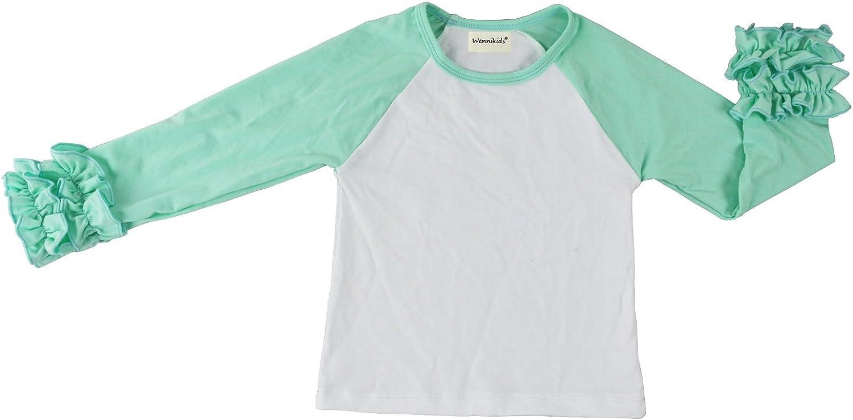 Toddler Raglan Shirt Girls T-Shirt Floral Shirt Raglan Shirt Raglan Girls Shirt Toddler Ruffle Shirt Girls Ruffle Raglan Shirt