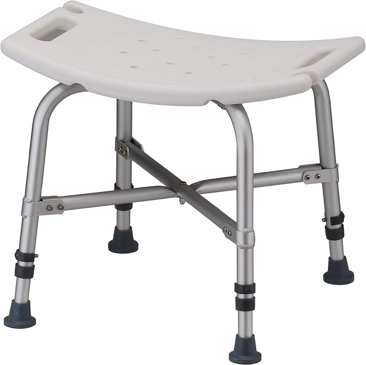 Amazon Com Nova Medical Products Heavy Duty Shower Bath Chair 500 Lb Weight Capacity Quick Easy Tools Free Assembly Lightweight Seat Height Adjustable Great For Travel White Health Personal