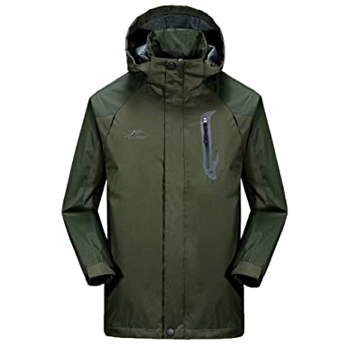 5dcc1f18b7e YongBe Men s Waterproof Jacket Outdoor Windbreaker Breathable Large Size  Hooded Soft Shell Jacket Spring and Autumn