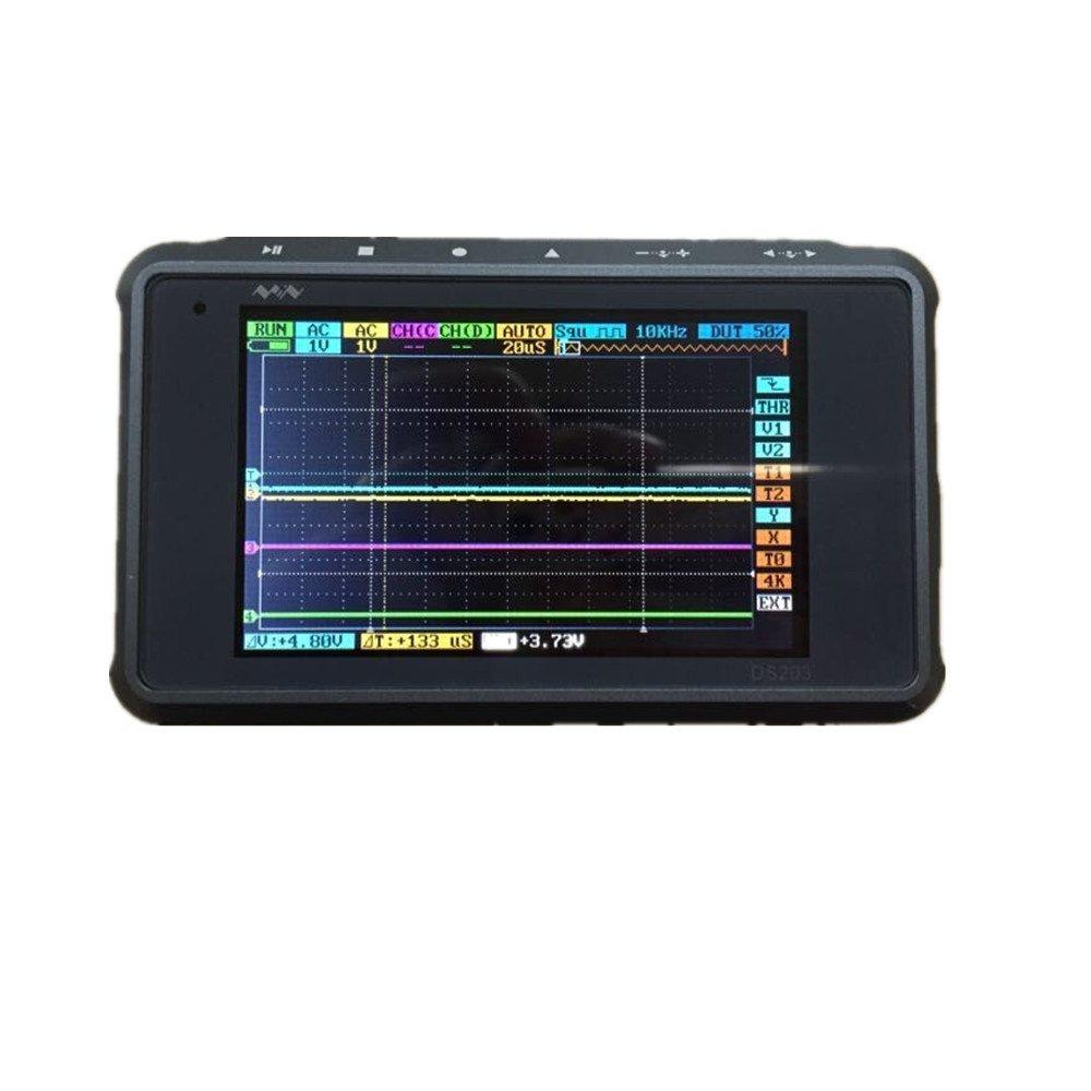 SMO ARM DSO203 Digital oscilloscope 4 channel (Aluminum Case) Silver/Black with Prob