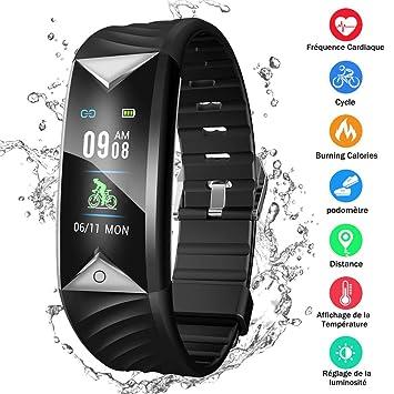 Montre Connectée Écran Couleur Bracelet Connecté Étanche IP68 Podomètre GPS Fitness Tracker dActivité Cardiofréquencemètre