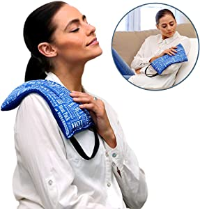Heat Therapy Pack - Mighty Relief Pillow - Microwavable Scented Heating Pads for Neck, Shoulder, Menstrual Pain Relief by HTP Relief (Blue)
