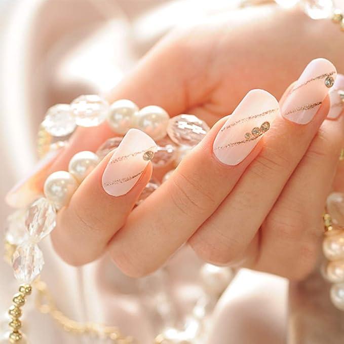 500 uñas postizas naturales + herramientas de manicura, estilo acrílico artificial uñas postizas con caja para mujeres y niñas, bricolaje manicura ...