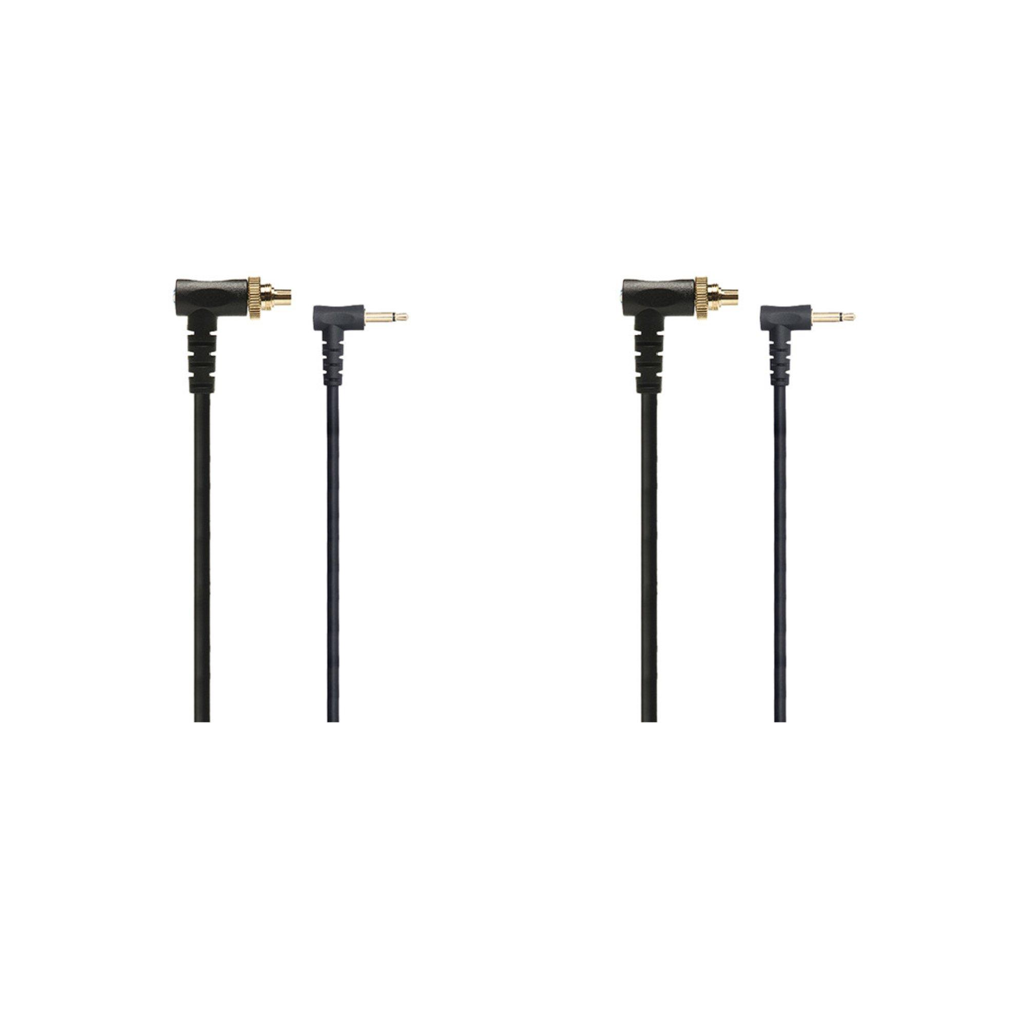 PocketWizard 804-310 1-Foot Locking PC Flash Sync Cable PC1N (Black) 2-Pack by PocketWizard