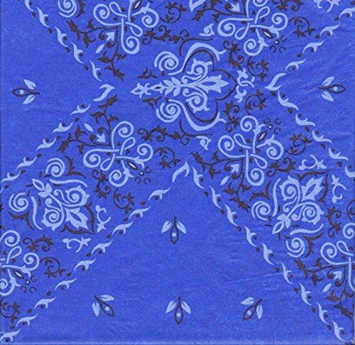 Blue Bandana Tissue Wrapping Paper-20 Sheets