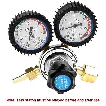 CO2 Pressure Regulator, CO2 Gas Bottle Regulator Carbon