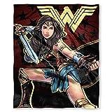 "Warner Brothers DC Comics Wonder Woman, ""Ya Okay"" Silk Touch Throw Blanket, 50"" x 60"", Multi Color"