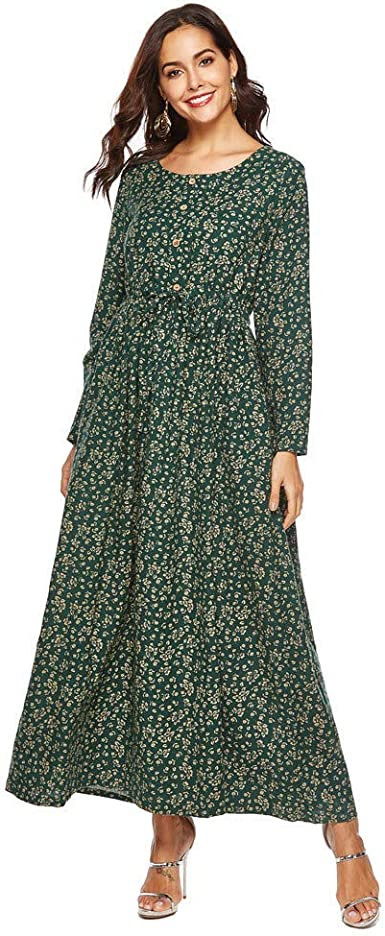 Vestido Largo para Mujer Vestido Largo Elegante Vestido De Manga ...