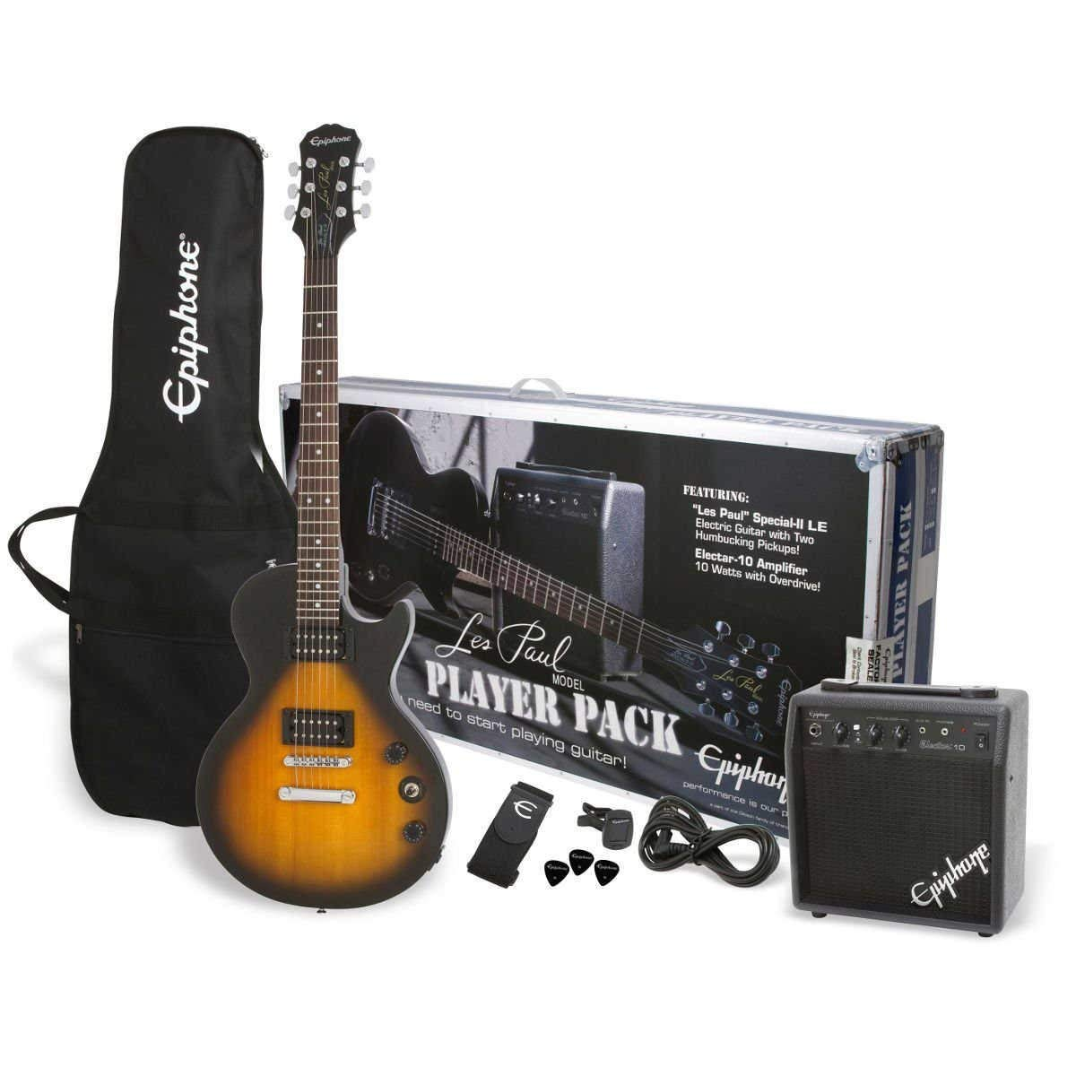 Packs guitarra Epiphone Les Paul Player Pack UK-240 V Packs guitarra eléctrica: Amazon.es: Instrumentos musicales