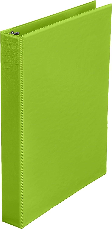 AmazonBasics 1-Inch Round Ring Binder, Green, Non-View, 12-Pack