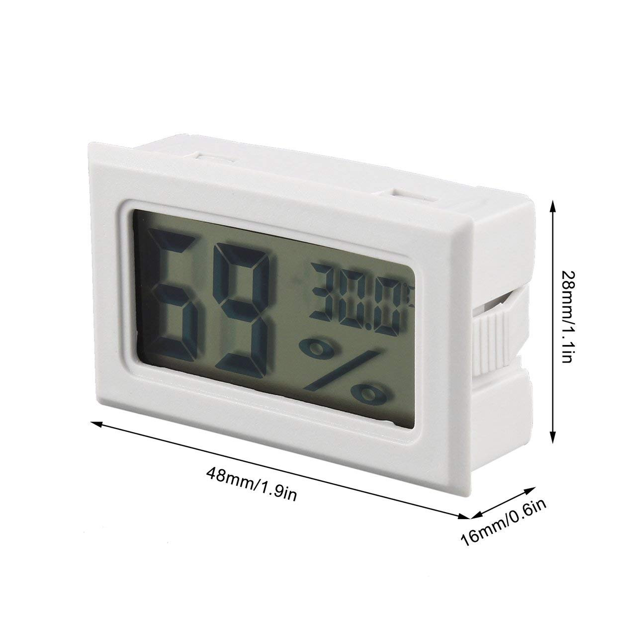 LoveOlvido Thermom/ètre num/érique LCD Professionnel Mini Hygrom/ètre Humidit/é Temp/érature M/ètre Capteur daffichage num/érique LCD int/érieur Blanc