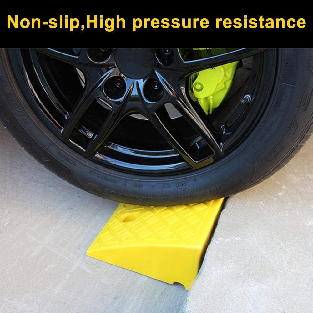 Rampe DAcc/ès Voiture Rampe De Bordure Rampe en Caoutchouc Tapis De Rampe pour Haute R/ésistance en Plastique Dur pour V/éhicules /À Rampe