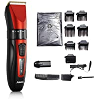 POVOS PR3085 PW230 Hair Clipper (Red/Black)
