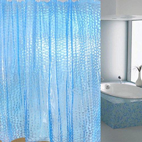 Heavy Duty 3d Cube Shower Curtain Waterproof Mildew Free Shower
