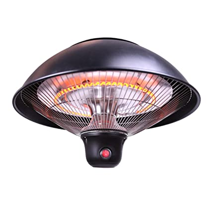 Sundate Hanging Patio Heater, Electric Halogen Patio Heater With LED Light  And Remote Control,