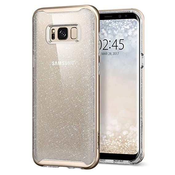 pick up 1166e 92337 Spigen Neo Hybrid Crystal Glitter Galaxy S8 Plus Case with Flexible Inner  Protection and Reinforced Hard Bumper Frame for Galaxy S8 Plus (2017) -  Gold ...