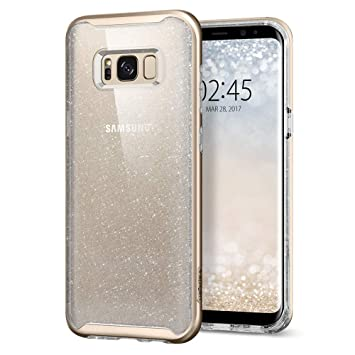 spigen Funda Galaxy S8 Plus, Carcasa [Neo Hybrid Glitter] Clear Hard Glitter Casing y Marco Reforzado de Parachoques Duro para Galaxy S8+ (2017) - ...