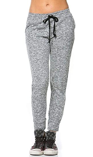 f7328e0a3 Comfy Velour Jogger Pants in Gray Black Red (Plus S-XXXL) at Amazon Women's  Clothing store: