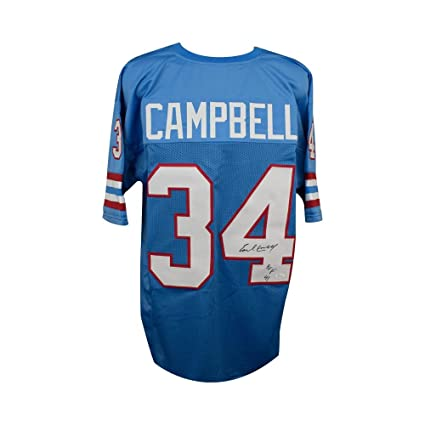 Image Unavailable. Image not available for. Color  Earl Campbell HOF Autographed  Houston Oilers Custom Blue Football Jersey - JSA COA b04af6faf