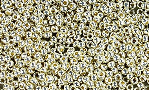 (11/0 Round TOHO Japanese Glass Seed Beads #PF558- Permanent Finish Galvanized Aluminum 15g)